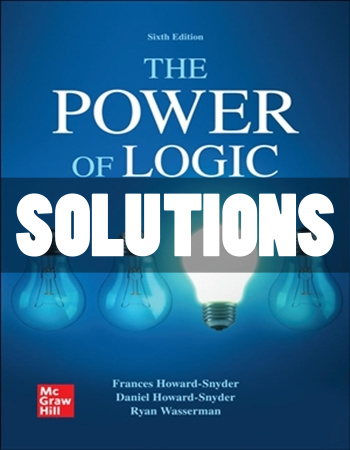 Power of Logic 6th Edition Howard-Snyder Solutions