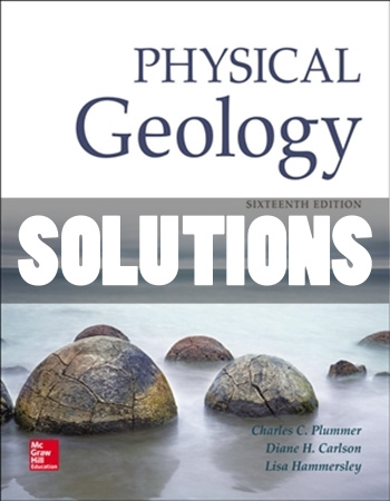 Physical Geology 16th Edition Plummer Solutions